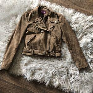 VIGOSS Suede Leather Motorcycle Style Jacket